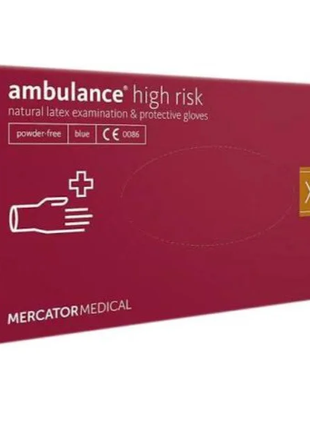 "Перчатки Синие Ambulance High Risk ""XL"" (50 шт/уп)"