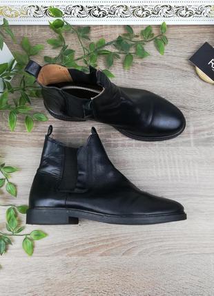 🌿37🌿европа🇪🇺 zign. кожа. фирменные стильные ботинки, челси