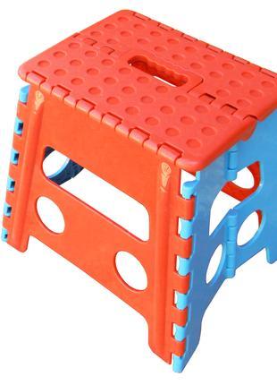 Пластмасовий розкладний стілець середній (32 см)