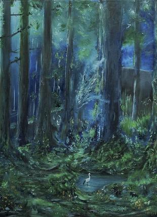 Картина маслом Дух леса 40×60 см