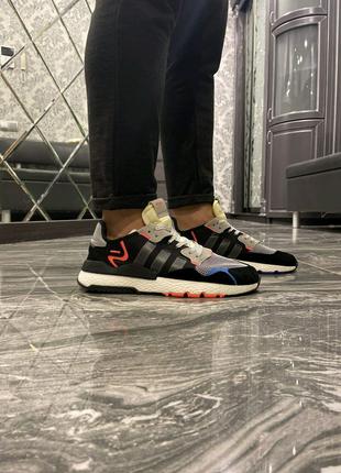 Кроссовки Adidas Nite Jogger Black Blue Yellow 41-45
