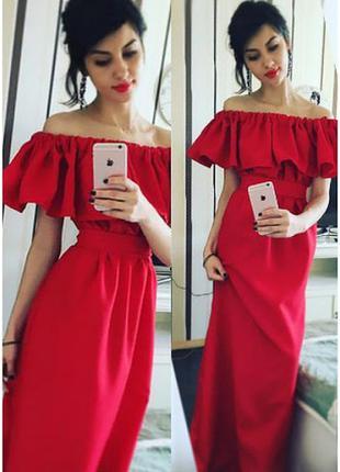 Платье красное, красное длинное платье
