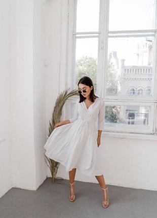 """Стильное платье миди в стиле """"халат"""" на запах 🖤"""