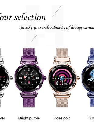 Смарт часы Н2 женские с металлическим ремешком