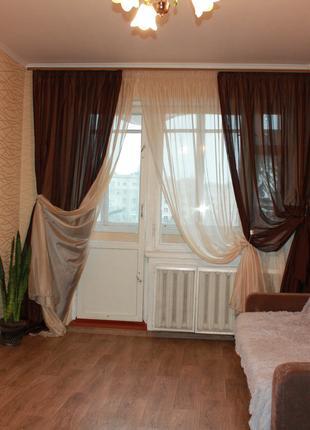 Светлая,уютная 1-ая квартира на АК.ГЛушко,пляж Золотой Берег.