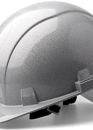 Каска защитная термостойкая серебристая