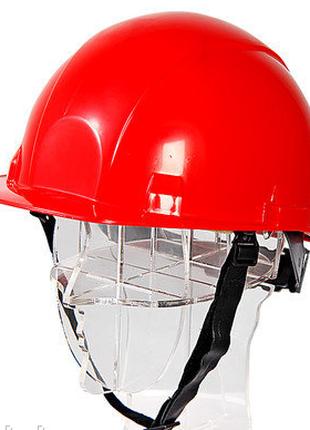 Каска защитная термостойкая красная