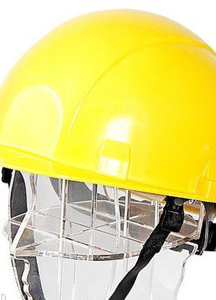 Каска защитная термостойкая желтая