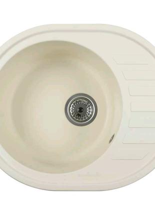 Каменная кухонная мойка Ventolux MONICA (CREMA) 620x500x200
