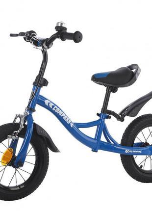 Велобег, беговел Balance Tilly T-21258 Compass Blue, надувные кол
