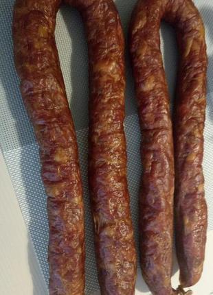 Колбаса домашняя сыро-копченая