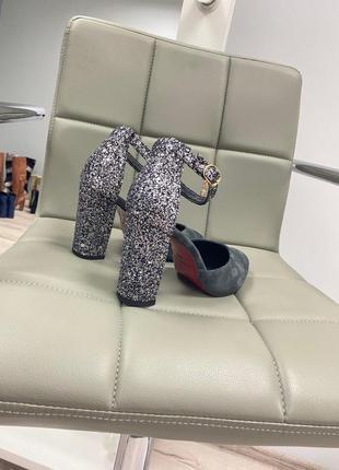 Туфли босоножки закрытые натуральные кожаные замшевые