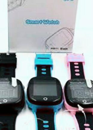 Водонепроницаемыtдетские умные смарт часы HW11,, GPS, камера. Хит