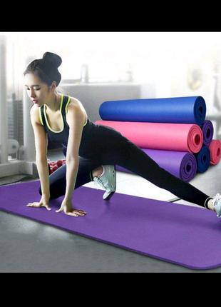 Коврик-Мат для йоги и фитнеса из вспененного каучука OSPORT Premi