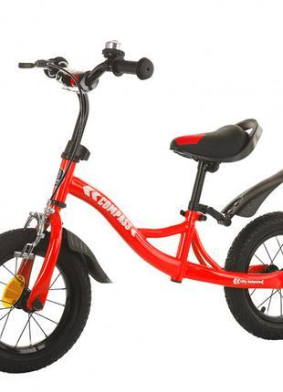 Велобег, беговел Balance Tilly T-21258 Compass Red, надувные коле