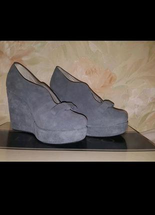 Туфли кожа кожаные замша