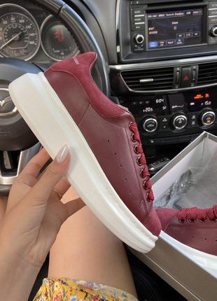 Кроссовки Alexander McQueen Dark Red.