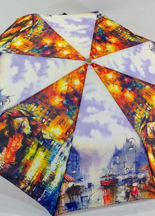 Шикарный романтичный зонт-полуавтомат живопись