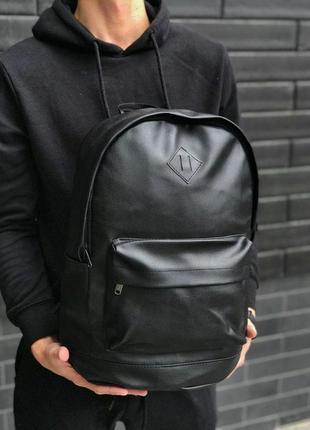 Рюкзак чёрный эко-кожа