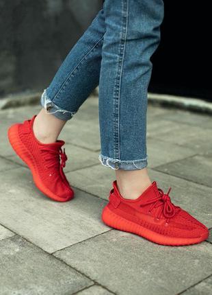 Adidas yeеzy 350 trfrm женские кроссовки адидас красные 37-40