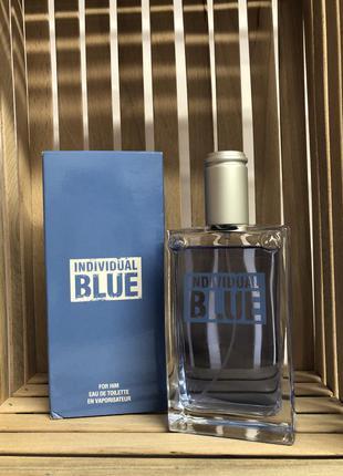 Туалетная вода individual blue for him (100 ml)