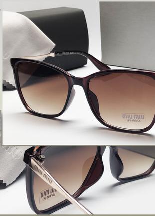 Женские очки солнцезащитные коричневые