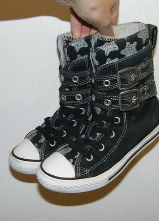 Высокие замшевые кеды converse, размер 31-32