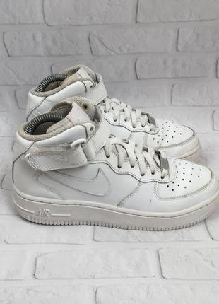 Шкіряні жіночі кросівки nike air force 1 кожаные женские кросс...