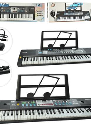 Синтезатор детский музыкальный центр 61 клавиши,микрофон,запись,д