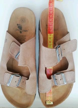 Ортопедические кожаные шлепанцы шкіряні шльопанці Propedo р. 42