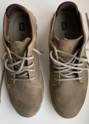 Туфлі  caterpillar бежеві, мужские ботинки.