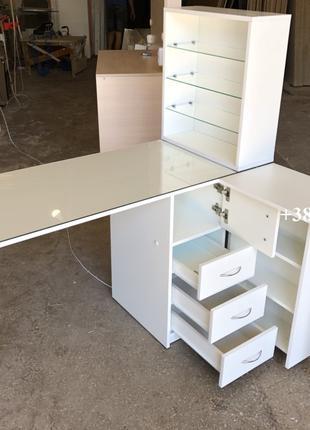 Маникюрный стол Модель  V240 с 2мя столешницами и УФ лампой
