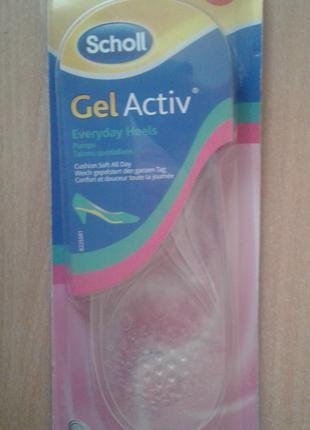 Гелевые стельки для обуви на каблуке Актив гель Activ Gel Scholl
