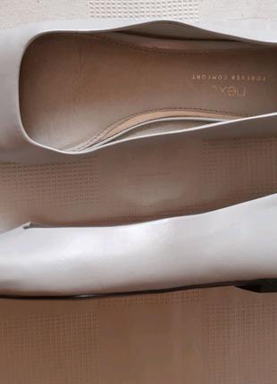 Кожаные туфли шкіряні туфлі Next р. 41 по ст. 26,5