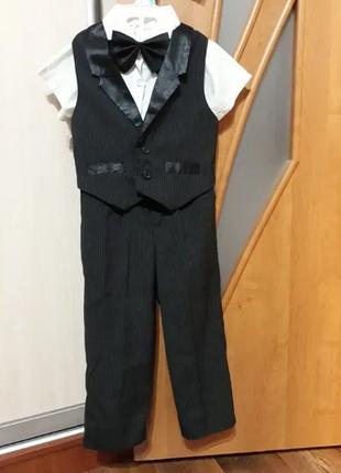 Шикарный костюм для мальчика (2-3 года)