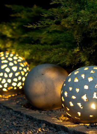 Садовый светильник Шар из керамики