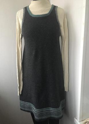 Тёплое шерстяное платье сарафан, натуральная шерсть