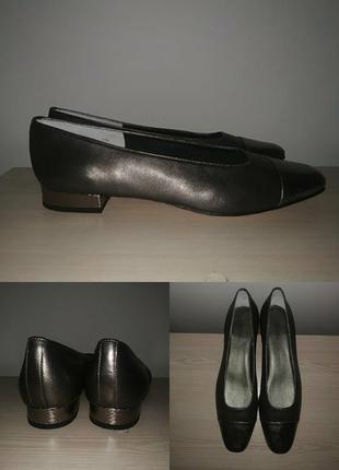 Туфли 44-45 р балетки кожаные большой размер