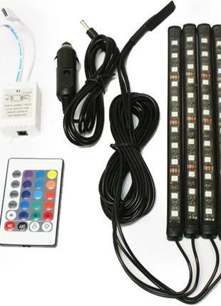Универсальная led подсветка с микрофоном RGB HR-01678