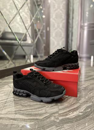 🔥 Nike Air Zoom Spiridon Cage 2 Stussy Black Grey
