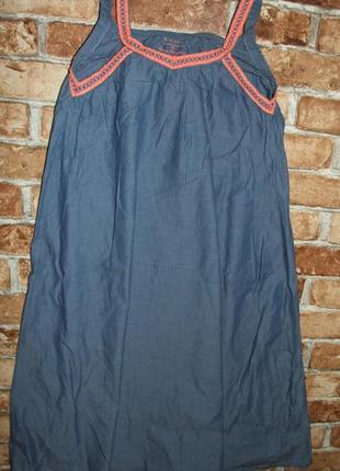 Платье легкий джинс 11-12 лет котон