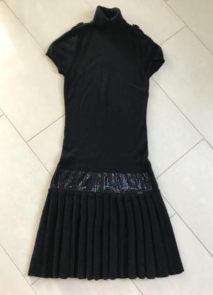 Платье шелково-кашемировое миди  стильное liu jo  размер s_m