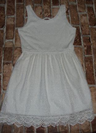 Платье нарядное кружево 12-14 лет h&m