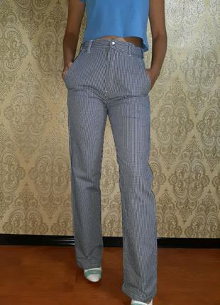 Штаны джинсы брюки клетка