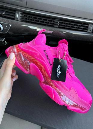Женские кроссовки баленсиага розовый цвет (36-40)💜