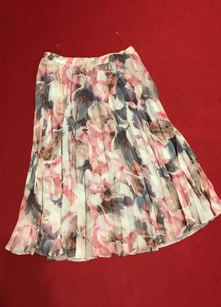 Нежная юбка-плиссе на подкладке