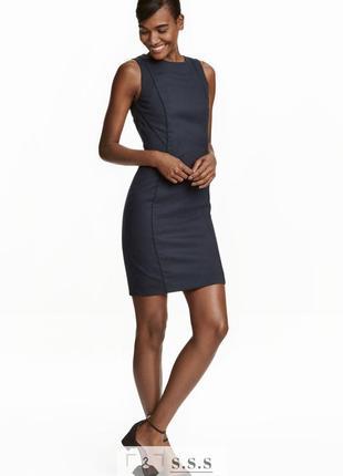 Платье футляр , приталенное платье без рукавов h&m
