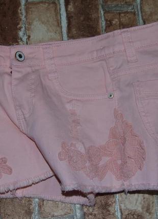 Шорты девочке джинс стрейч 10 - 12 лет сток