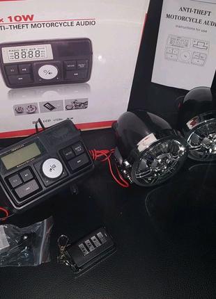 Акустика на МОТО сигнализация музыка на скутер НОВАЯ качество