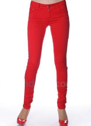 Акция! цена снижена! джинсы женские красные